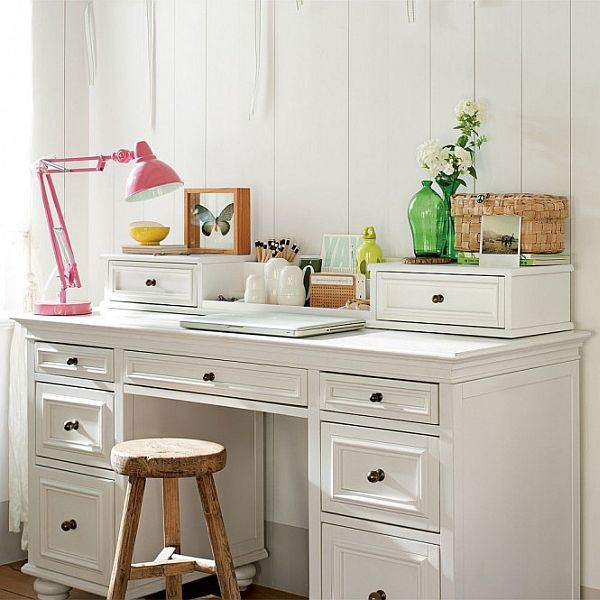 girls-study-space-white-desk-and-stool